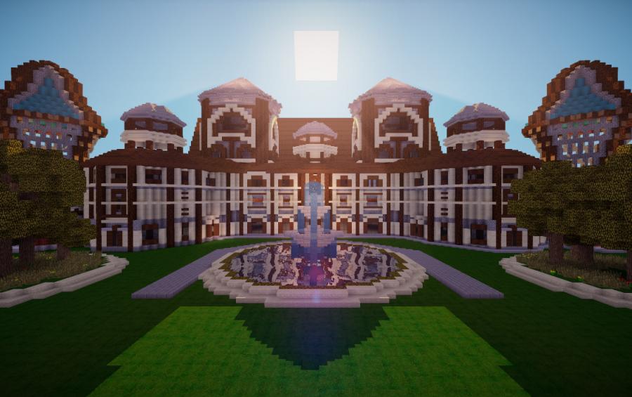 Herobrine's mansion restored, creation #2456.