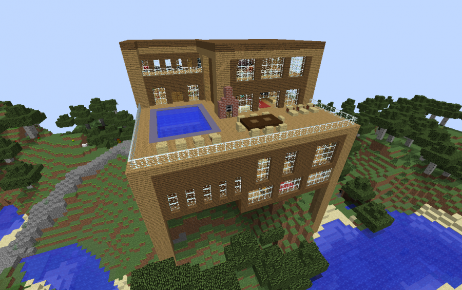 Modern Wooden House Minecraft Easy Home Decorating Ideas
