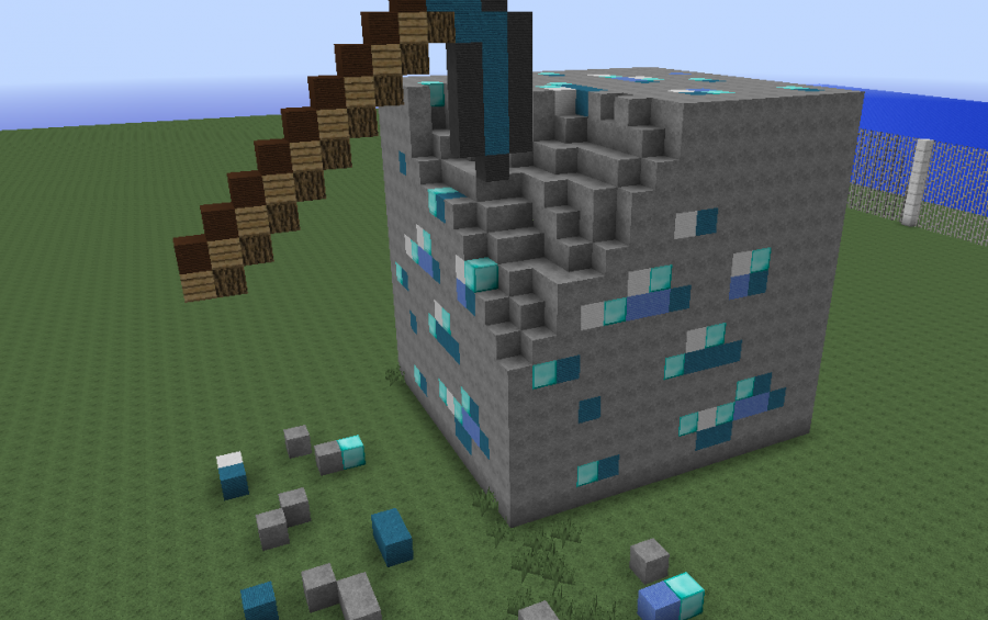 diamond block project house minecraft
