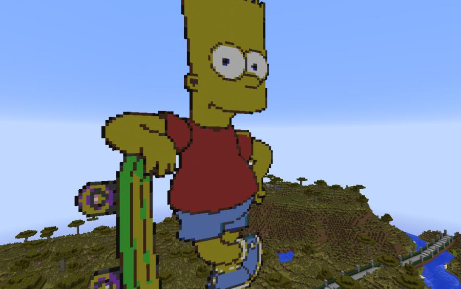 Bart Simpson Pixel Art