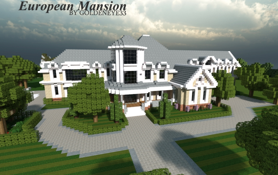 European mansion 1 by goldeneye33 creation 2770 for Minecraft big modern house schematic