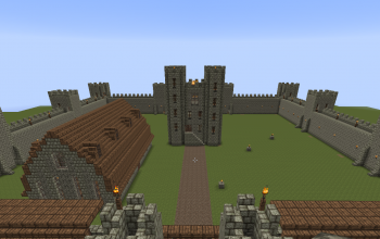 Huge Medieval Castle v1 With Working Gatehouse.
