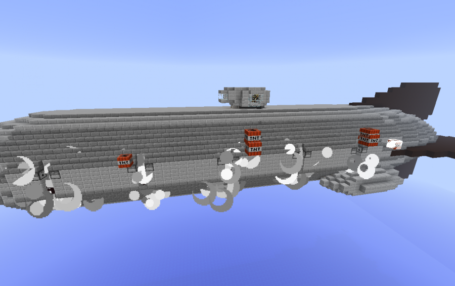 Royal Navy Battleship Airship for Movecraft, creation #2845 on