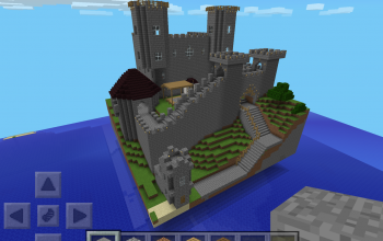 Medieval Castle W/ Tower Wall   Pocket Edition Friendly