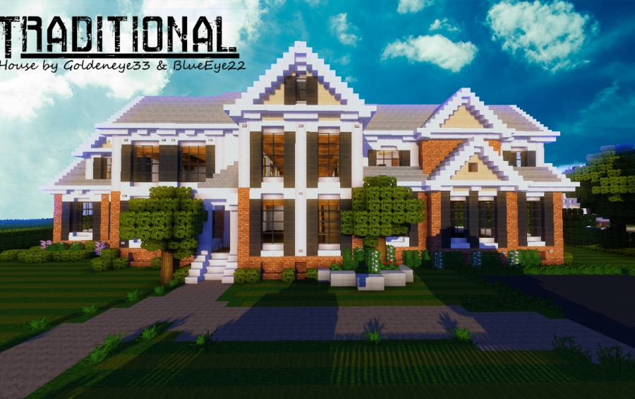 Traditional House By Goldeneye Creation - Minecraft house map download