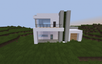 simple modern house in minecraft pe