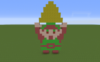 Link Holding the Triforce NES