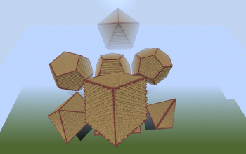Icosahedron, Dodecahedron, Octahedron, Hexahedron and Tetrahedron