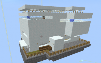 Flying high tec modern house