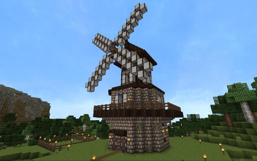 Tudor Style Windmill, creation #3301