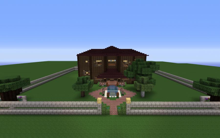 Minecraft Modern Oak House
