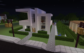 simple modern house - Simple Modern House Minecraft