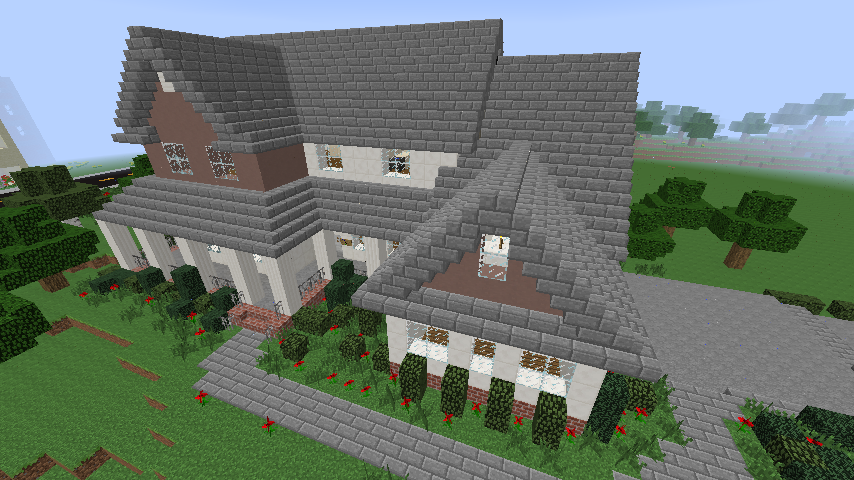 Suburban house creation 3575 for Minecraft big modern house schematic