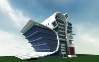 Modern/Futuristic City Building.