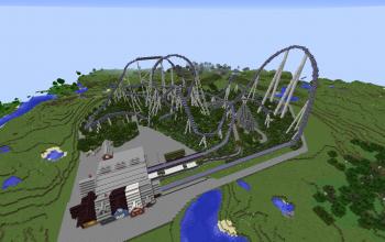 Blu Fire Megacoaster rollercoaster