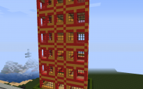 Red building with elevator and hopper trash system (read description)
