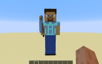 steve with pickaxe
