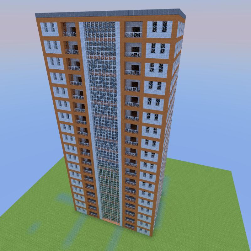 Minecraft Apartment: Apartment Building #1 By: Jjcash, Creation #4007