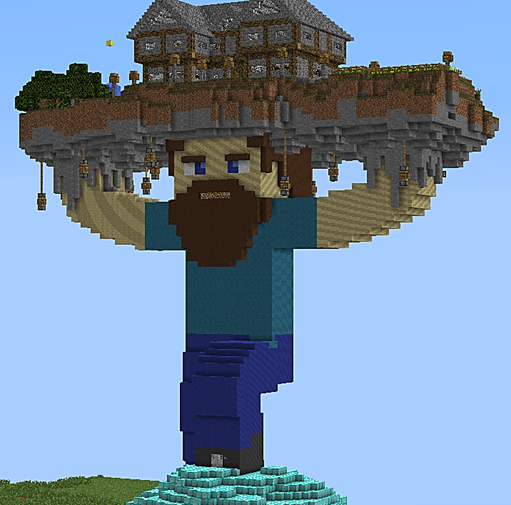House on top of Steve, creation #419 on minecraft kingdom map, minecraft projects, minecraft texture packs, minecraft nether dragon, minecraft at at, minecraft stuff, minecraft lighthouse, minecraft dragon head, minecraft airport, minecraft tools, minecraft designs, minecraft bom, minecraft ideas, minecraft 747 crash, minecraft books, minecraft controls, minecraft adventure time, minecraft charts, minecraft wool art,