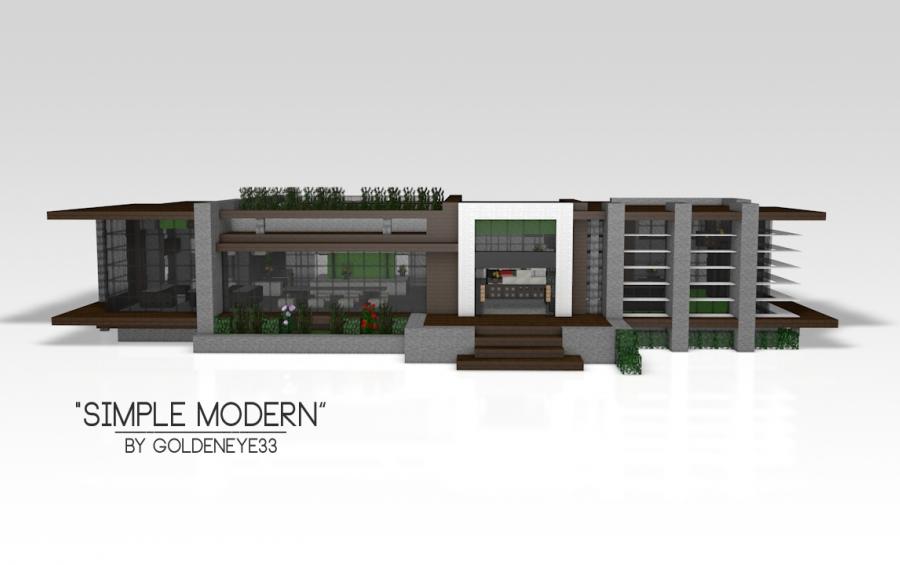 simple modern modern house creation 4305 - Simple Modern House Minecraft
