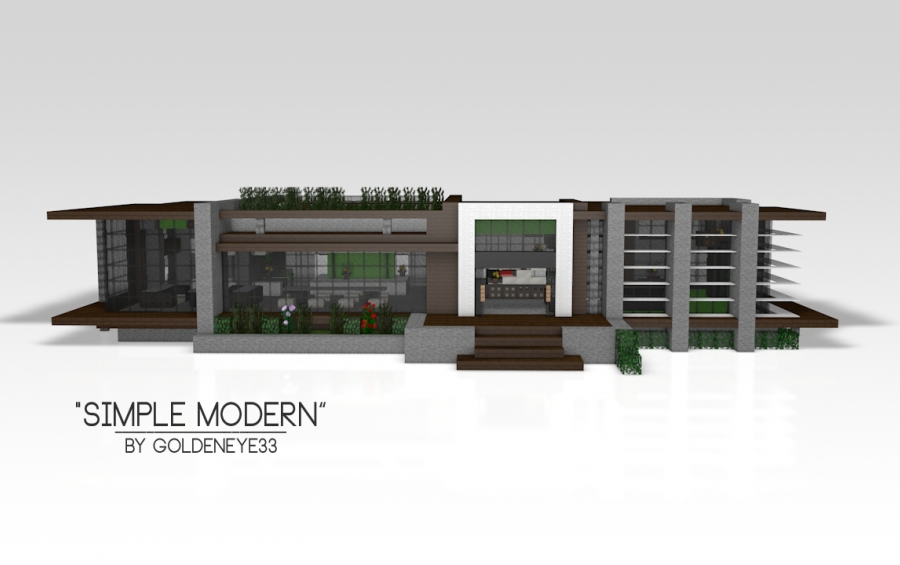 Simple modern modern house creation 4305 for Modern house schematic