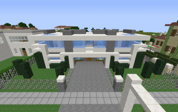 Compact modern house