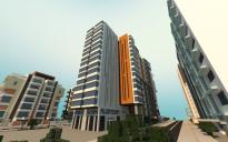 Modern city building