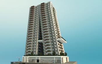 Tilted Modern Building