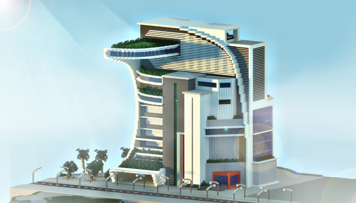. Modern Futuristic Building  creation  4798
