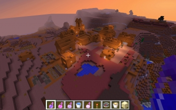 red sandstone village