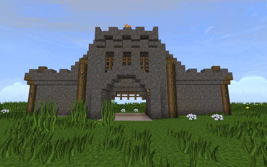 minecraft castle gate ideas