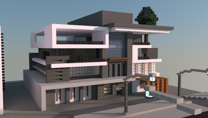 Modern box house creation 5006 for Modernes redstone haus