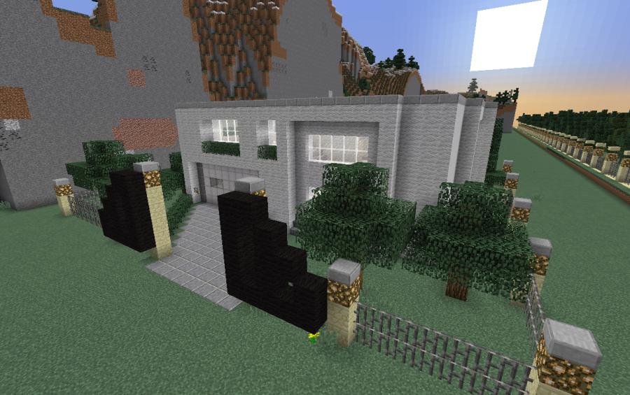 medium sized modern house, creation #5095