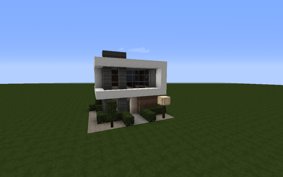 Minecraft small modern house build