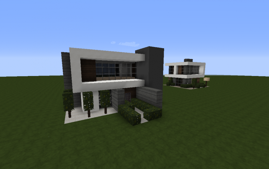 Modest modern house creation 5243 for Simple modern house minecraft