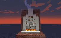 Automatic lighting fireplace