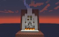 Automatic lighting fireplace