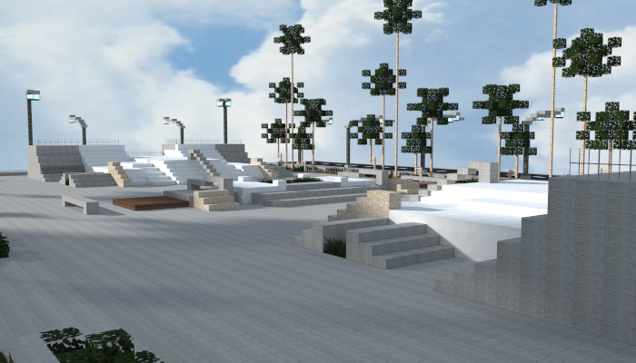 how to make a skateboard park in minecraft