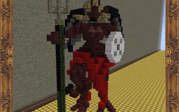 Demoness Guard Statue