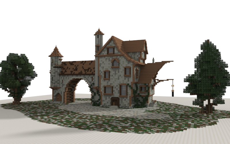 Large Medieval House Creation 5571