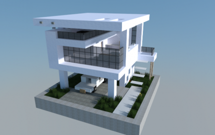 16x16 modern house 0 creation 5572 for Modern house mc