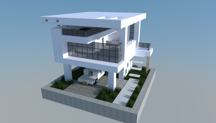 16x16 modern house 0 creation 5572 for Casa moderna minecraft pe 0 10 4
