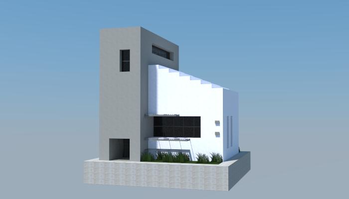 11x12 Modern House Creation 5573