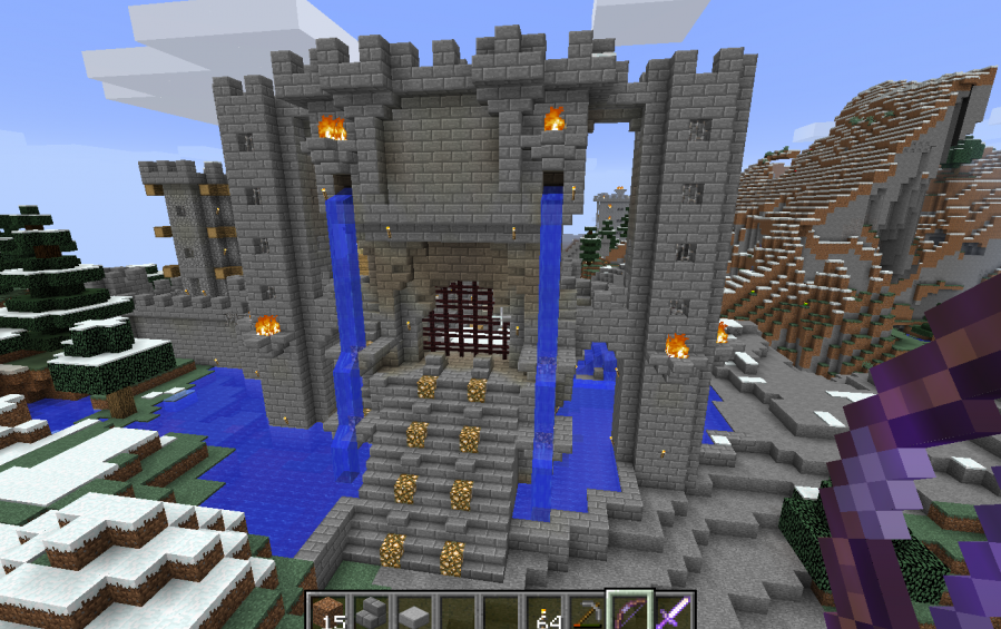 minecraft gate. Wonderful Minecraft Castle Gate 3Height Model H21b To Minecraft M