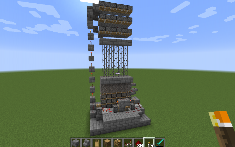 minecraft castle gate blueprints
