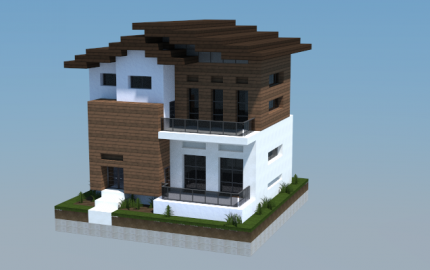 16x16 modern house 1 creation 5766 for Modern house mc