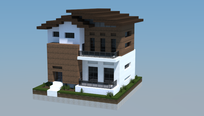 16x16 modern house 1 creation 5766 for Minecraft modern house designs easy