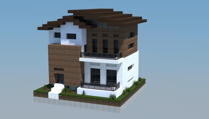16x16 Modern House 1