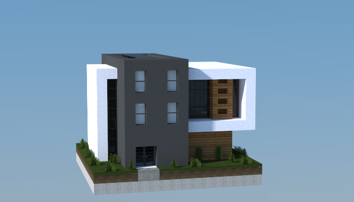 16x16 modern house 2 creation 5767 for Modernes redstone haus