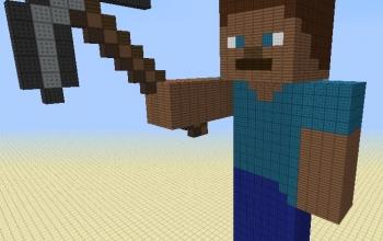Steve the miner statue